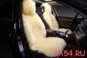 Меховой чехол на сиденье автомобиля от компании СибАвто в Новосибирске